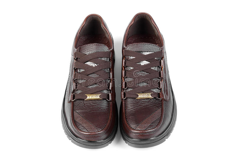 Download Brown leather shoes stock image. Image of fitness, laces - 17214805