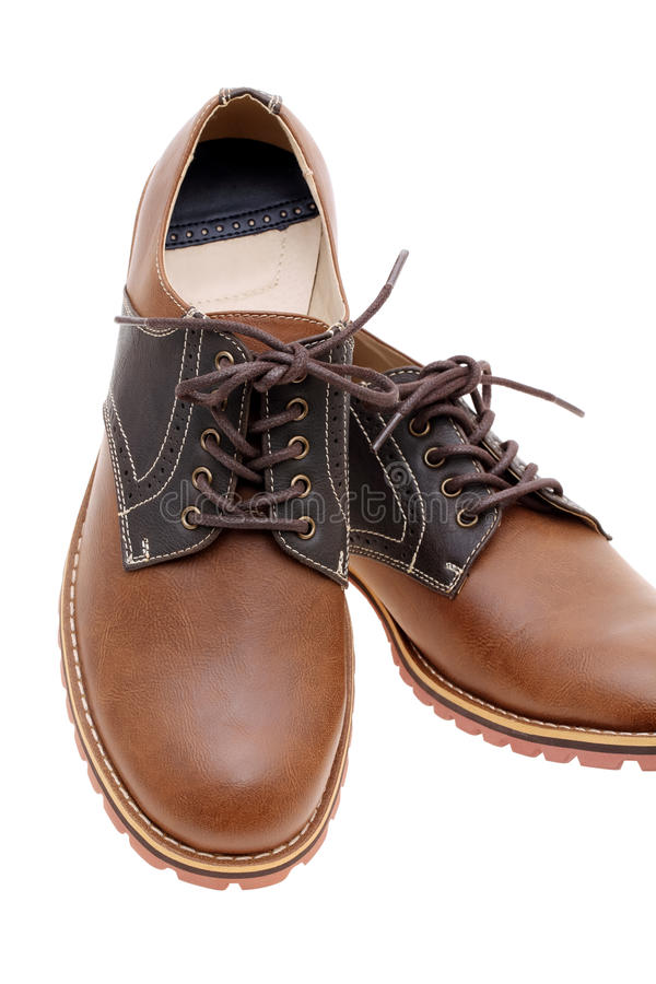 Download Brown leather shoes stock photo. Image of object, casual - 37516388