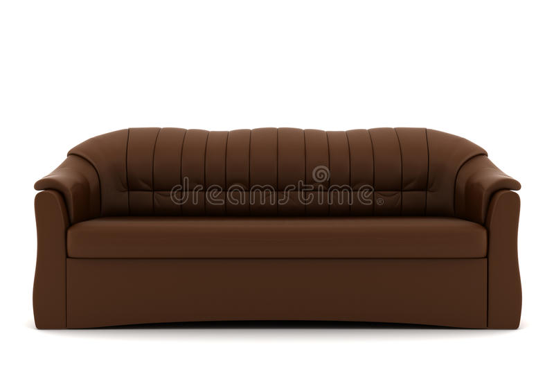 Download Brown Leather Sofa Isolated On White Background Royalty Free Stock Images - Image: 14305179