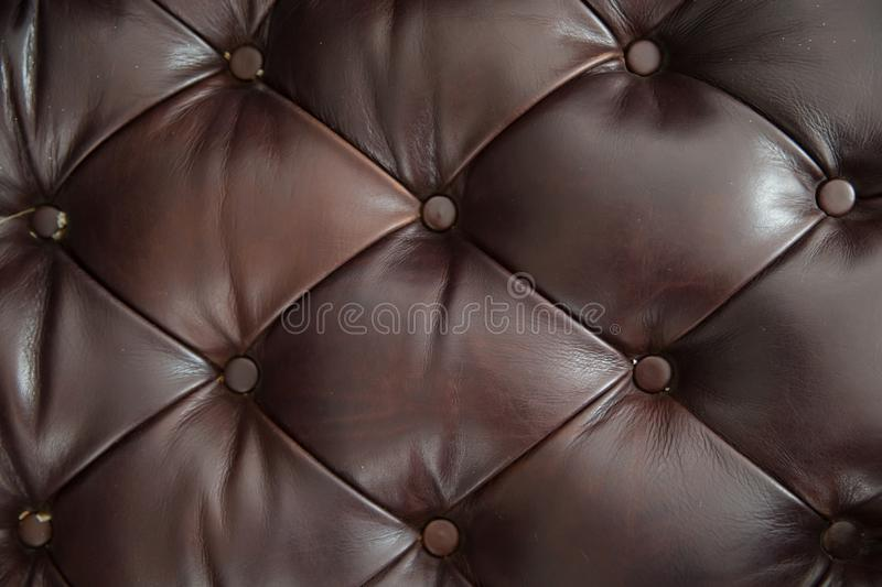 Brown leather sofa texture background. royalty free stock images