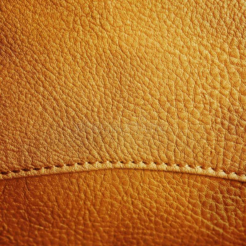 Brown leather texture. Close up brown leather texture royalty free stock photo