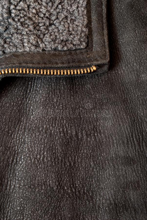 Brown leather texture may used as background royalty free stock photo