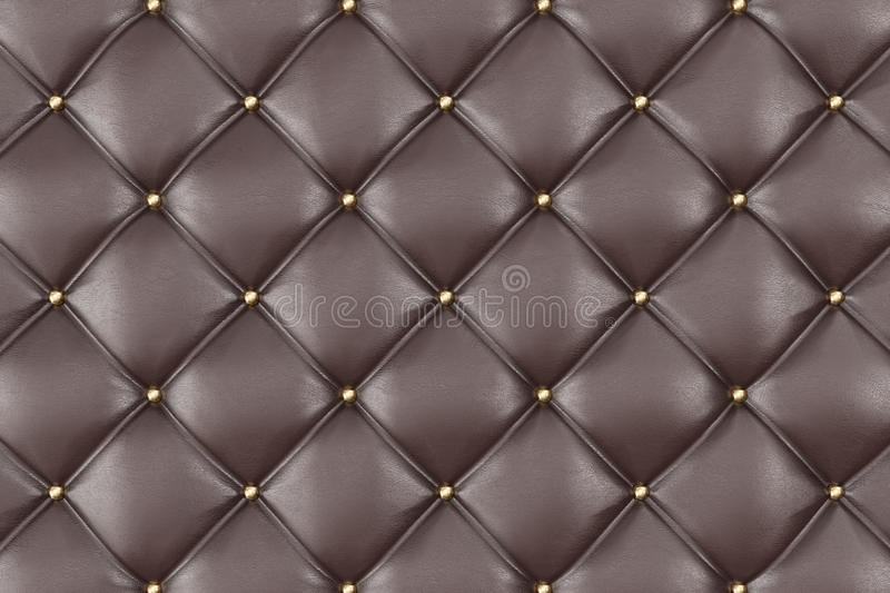 Brown Leather Upholstery Sofa Background. Brown Luxury Decoration Sofa. Elegant Brown Leather Texture With Buttons For. Pattern and Background. Leather Texture stock illustration