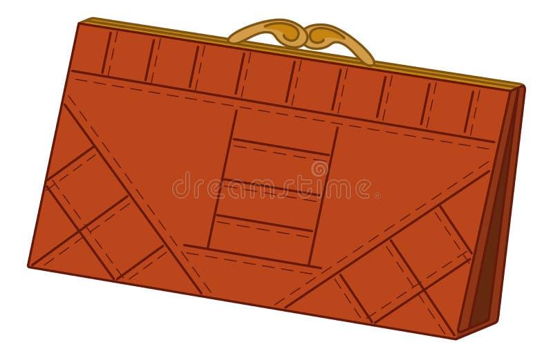 Brown leather wallet vector illustration
