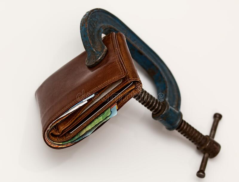 Brown Leather Wallet Using Blue Steel Clap Free Public Domain Cc0 Image