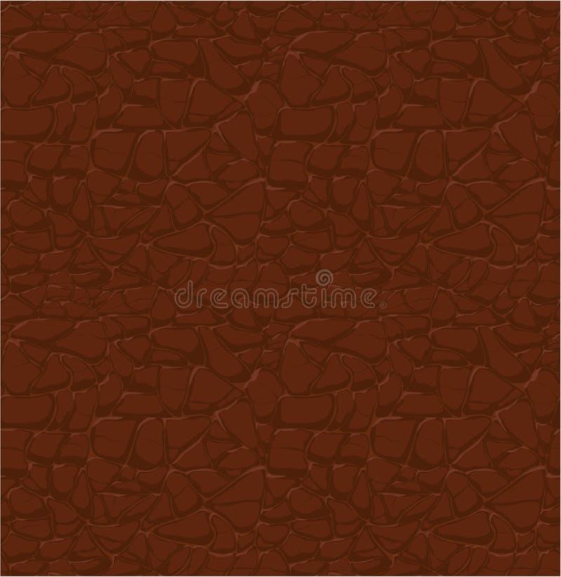 Brown-Ledermuster, nahtlose Entlastung lizenzfreie abbildung
