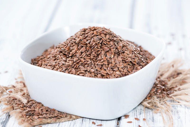 Brown Linseeds obrazy royalty free