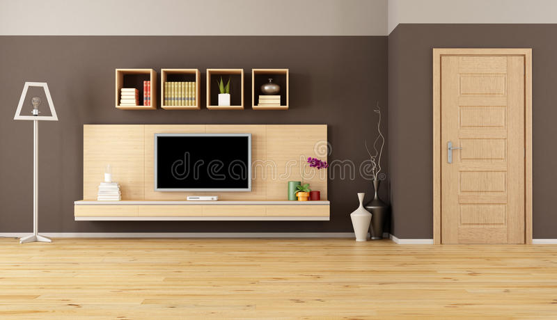 Download Brown Living Room With Led TV Stock Images   Image: 31316074 Part 34