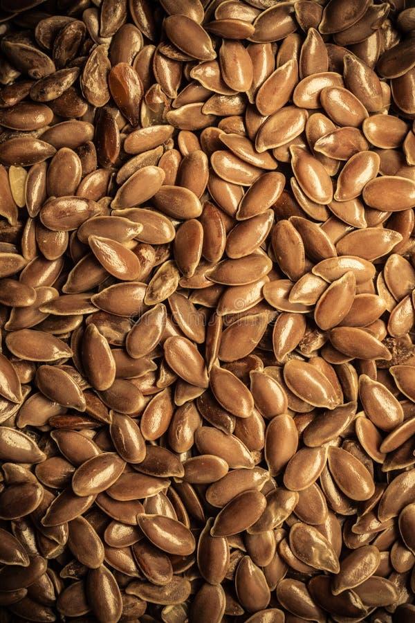 Brown lna ziaren linseed basów surowy tło obrazy stock