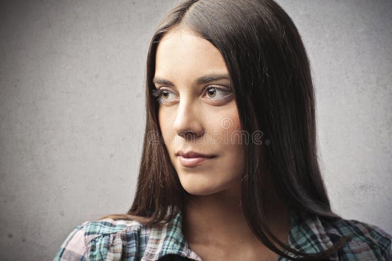 Download Brown Look stock image. Image of teenager, woman, portrait - 27314289
