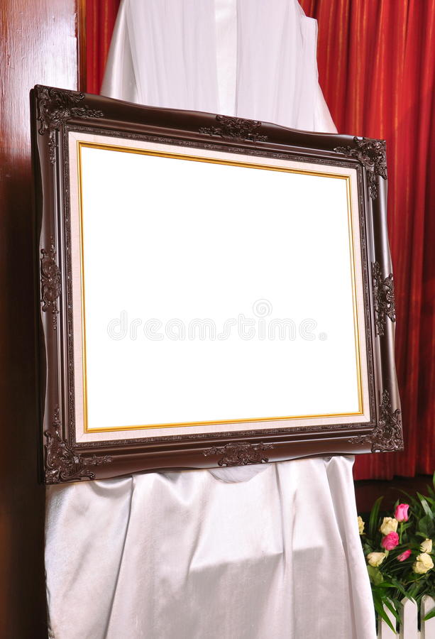 Brown louise photo frame royalty free stock photography