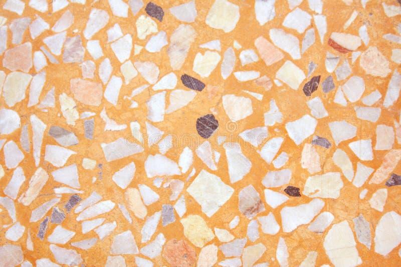 Brown lub pomarańcze lastryka tekstury bezszwowy tło, Naturalni wzory polerująca kamienna podłoga zdjęcia royalty free