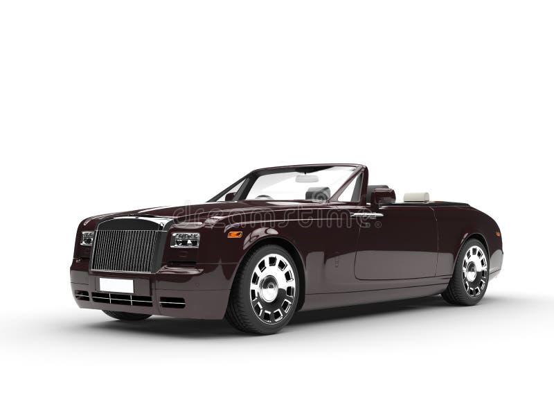 Brown luksusowy samochód - studio strzał royalty ilustracja