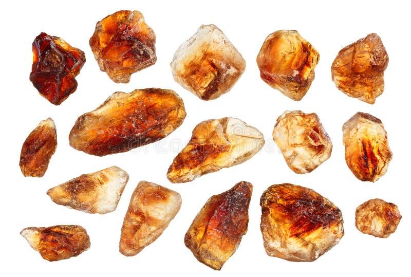 Brown lump cane sugar crystals royalty free stock images