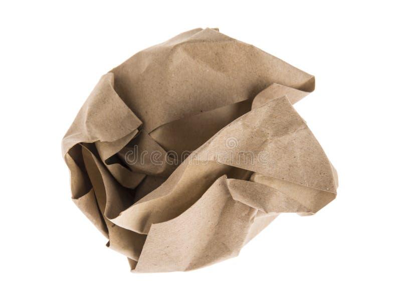 Brown lump paper royalty free stock image