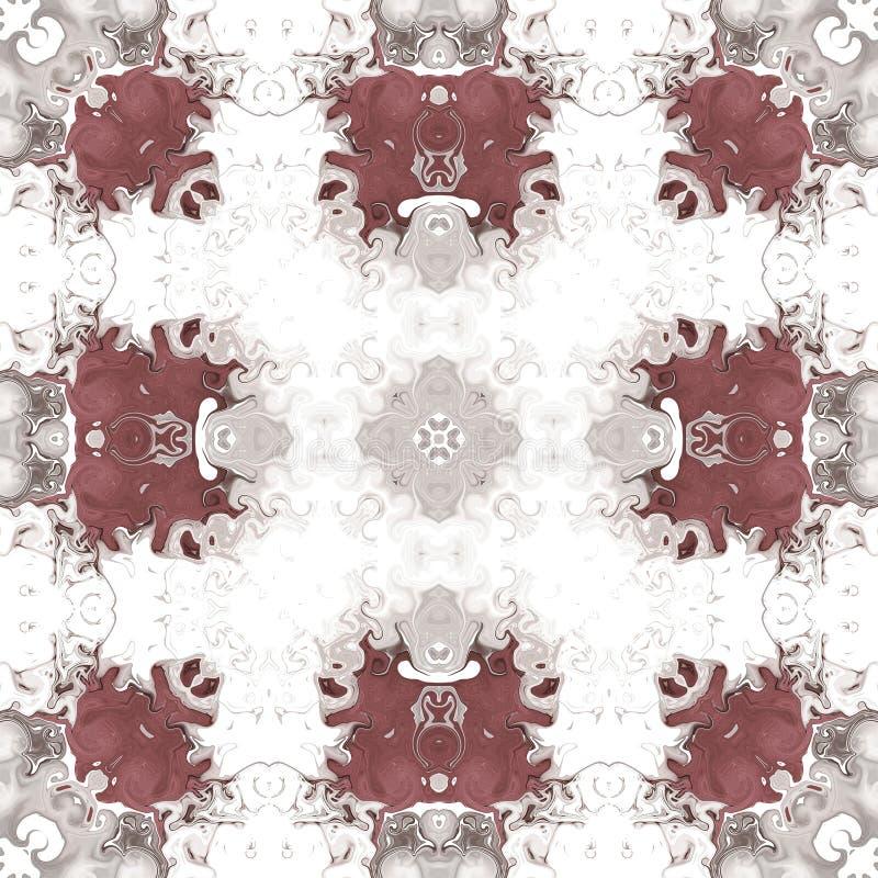 Brown lustra mandala wzoru beż foremność Brown lustra mandala wzoru beż foremność royalty ilustracja