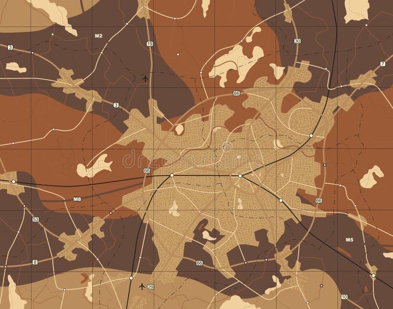 Download Brown map stock vector. Illustration of destination, journey - 15557980