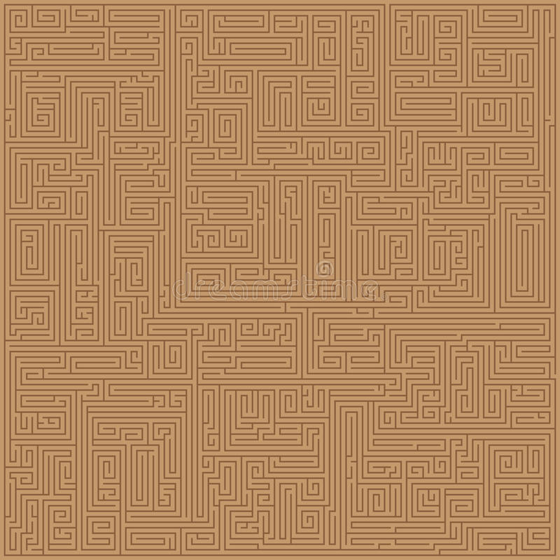 Download Brown Maze Seamless Pattern Stock Vector - Image: 19870163