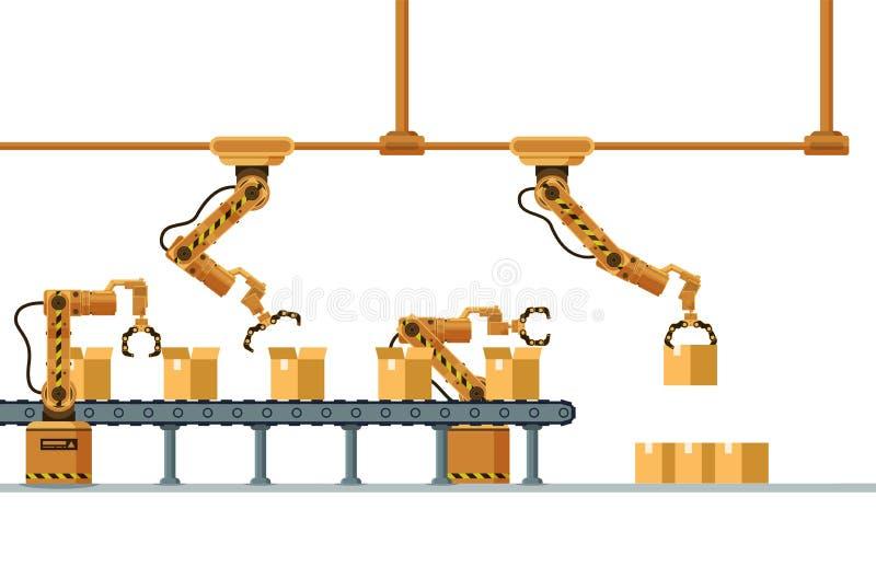 Brown Mechanicznego pazura kocowania Automatyczny konwejer royalty ilustracja