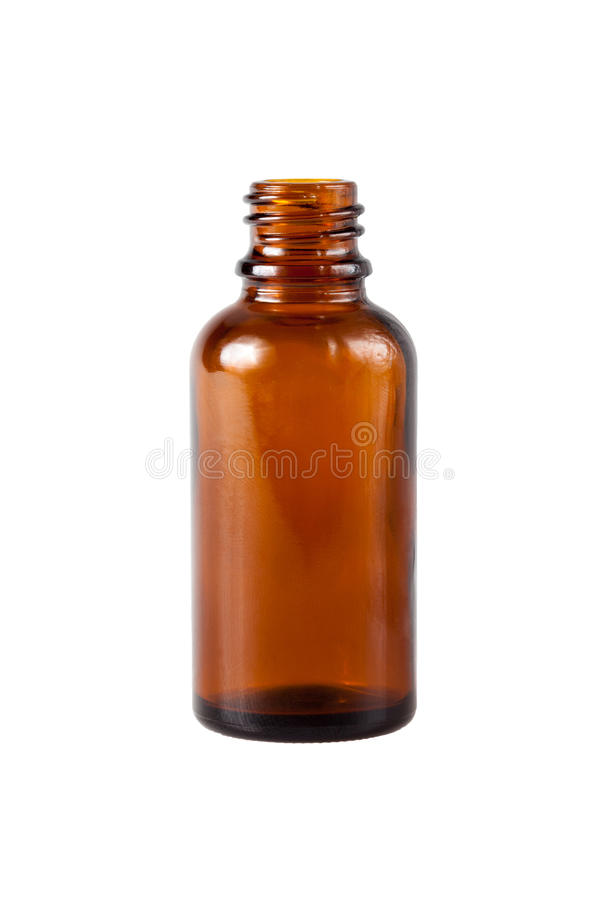 Brown medicine glass bottle royalty free stock photo
