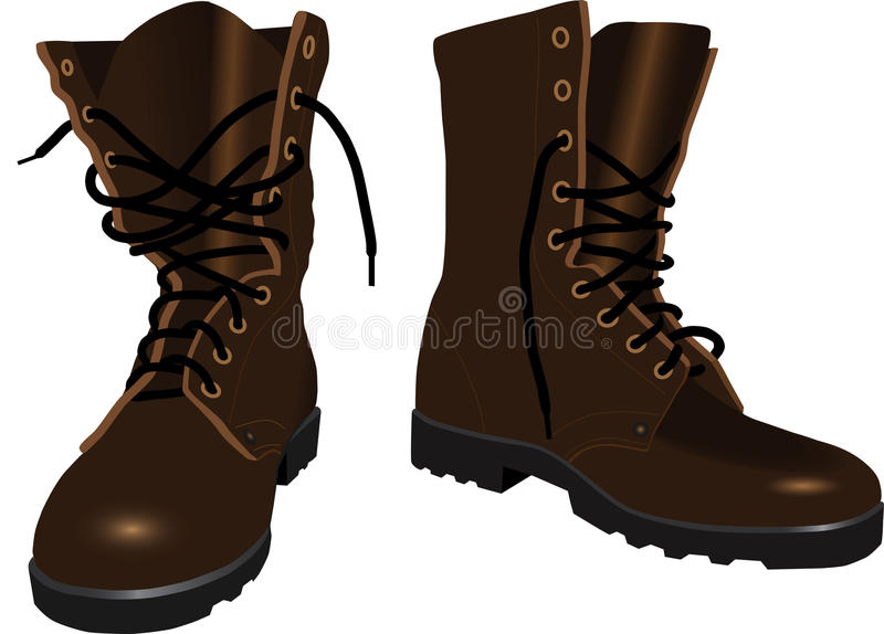 Brown men's boots stock illustration