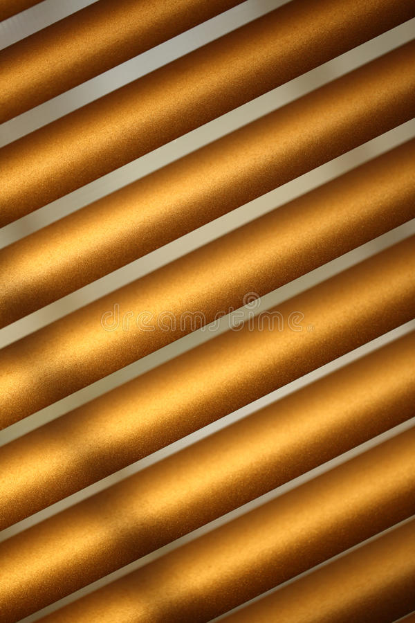 Brown metal jalousie stock photo