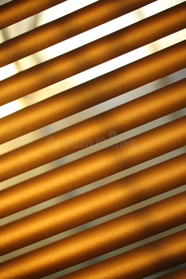 Brown metal jalousie stock image