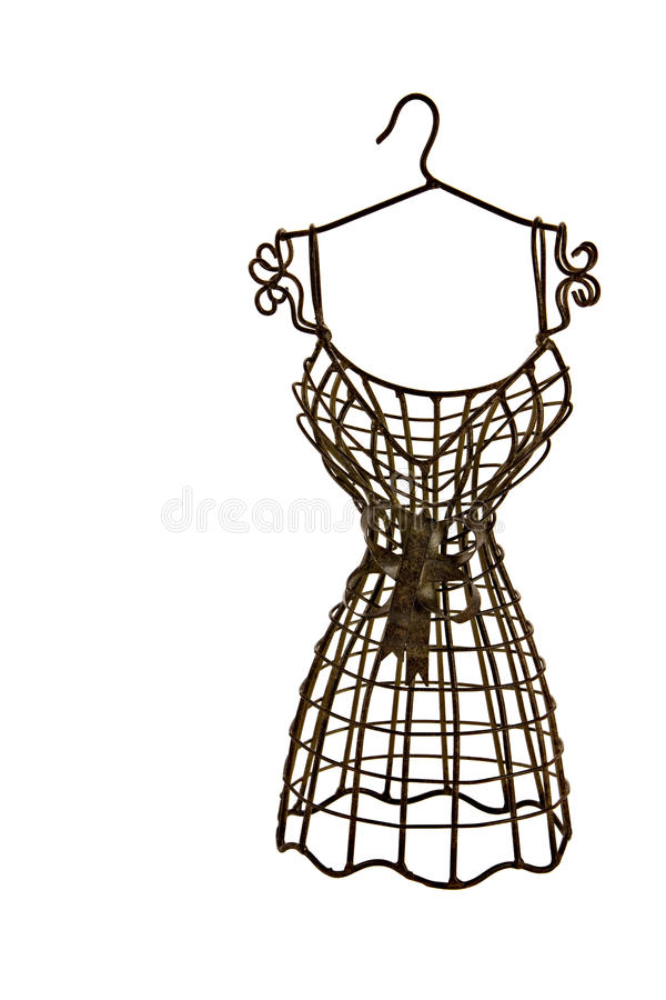 Download Brown Metallic Dress Form Isolated Stock Image - Image: 10985925