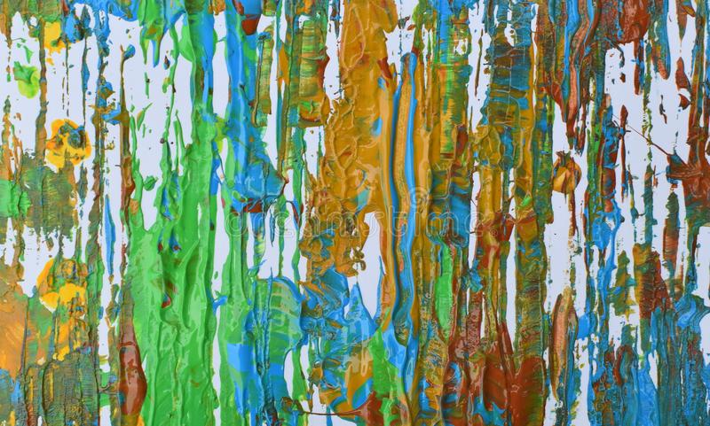 Brown, mezcla azul verde, amarilla de contrastes suaves, pinta el fondo de acrílico imagenes de archivo