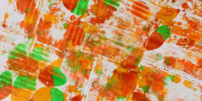 Brown, mezcla azul verde, amarilla de contrastes suaves, pinta el fondo de acrílico fotos de archivo