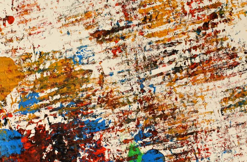 Brown, mezcla azul verde, amarilla de contrastes suaves, pinta el fondo de acrílico imagen de archivo libre de regalías
