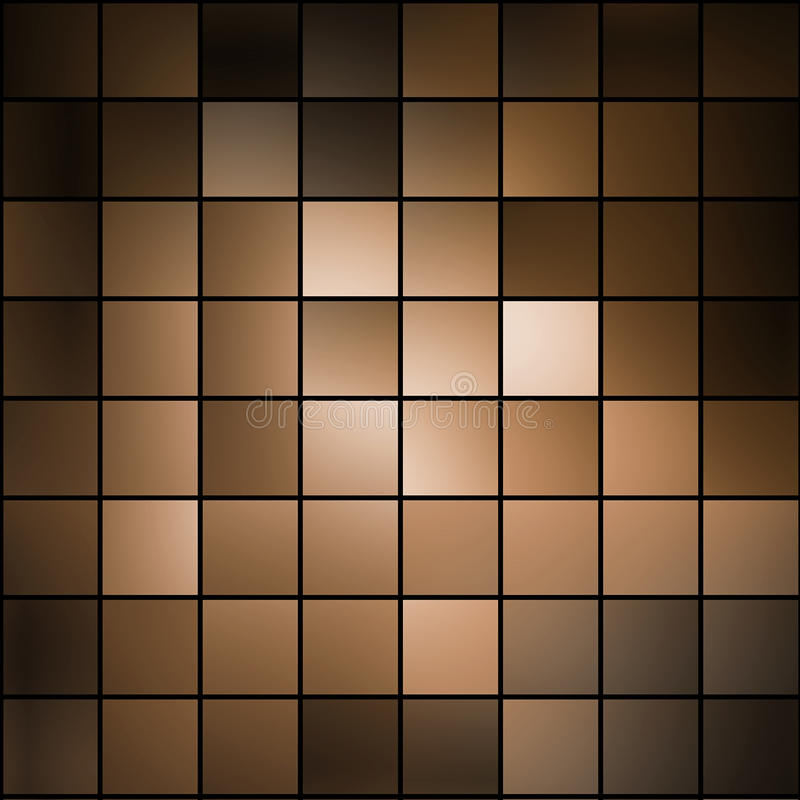 Download Brown mosaic stock illustration. Image of decoration - 23381384