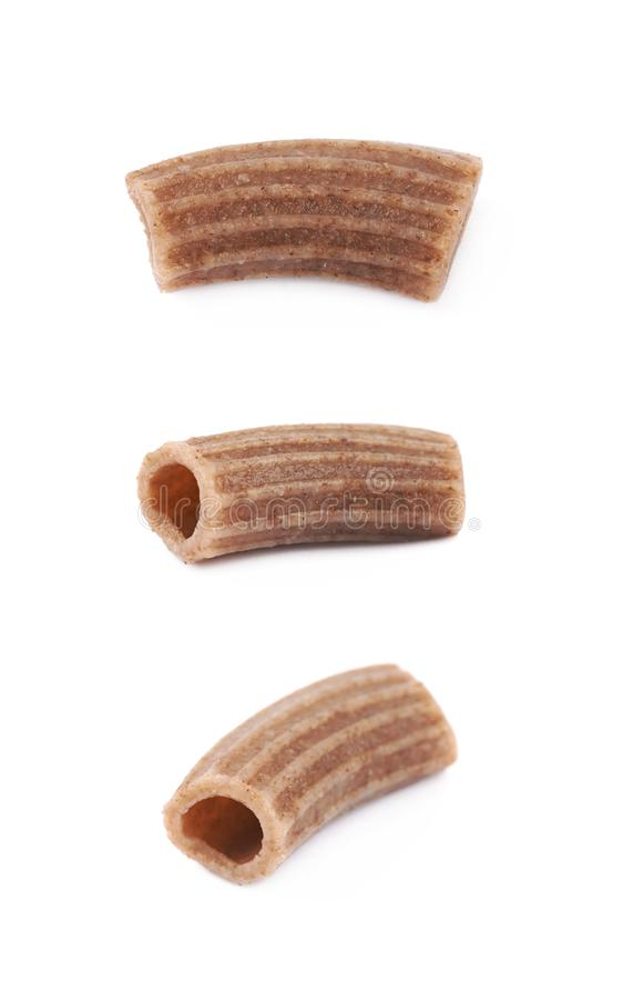 Brown mushroom pasta composition stock image
