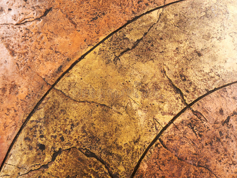 Brown natural stone floor texture background perspective view.  stock photography
