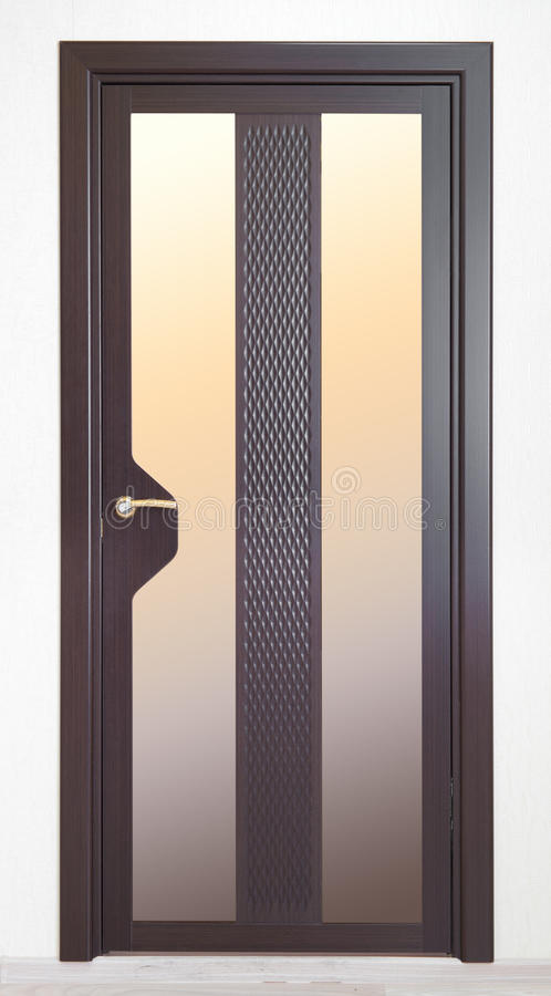 Brown New Door Stock Images