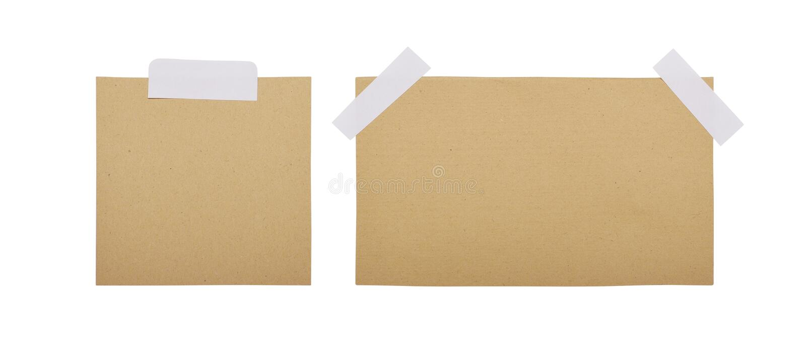 Brown note paper sticked royalty free stock photo