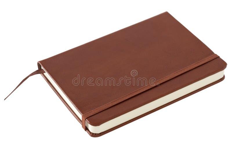 Brown-Notizbuch lizenzfreie stockfotografie