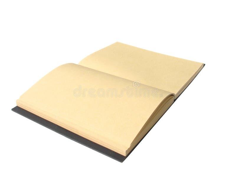 Brown-Notizbuch mit Isolat stockfotografie