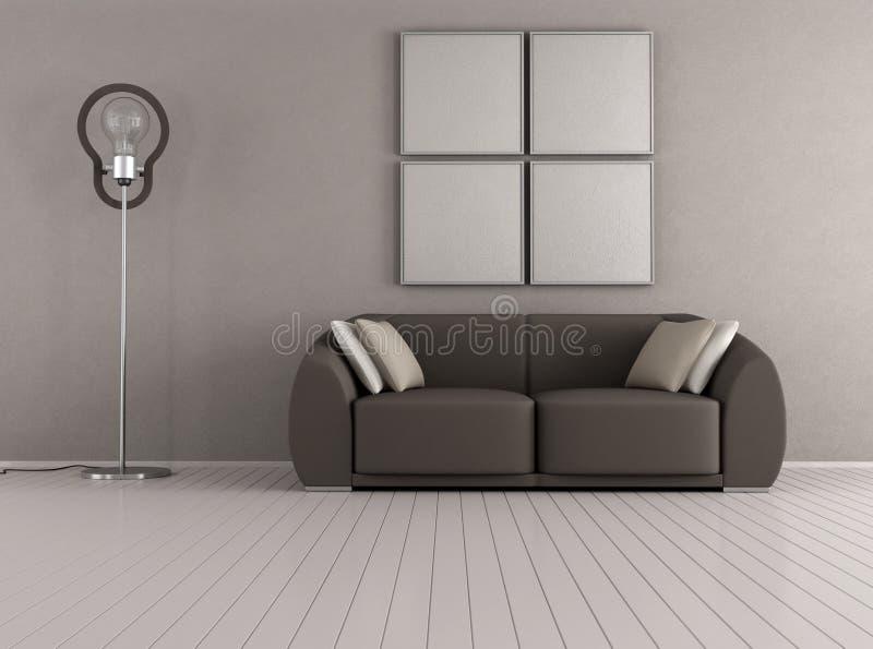 Brown nowożytny żywy pokój ilustracji