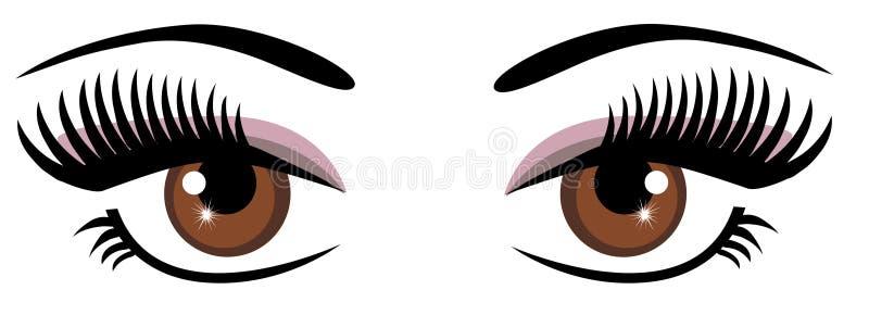 Brown oczy ilustracja wektor