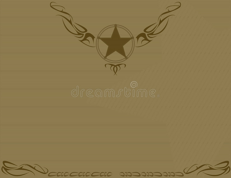 Brown old fashioned star background royalty free illustration