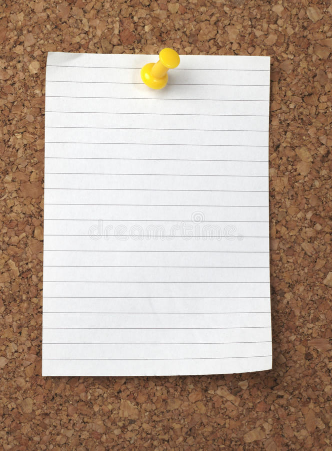 Brown old paper note background cork board royalty free stock photos