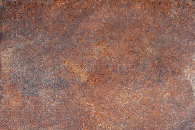 Brown old rusted corroded metal or steel sheet. Horizontal wall background as abstract dirty textured metallic vintage industrial closeup for retro grungy stock photos