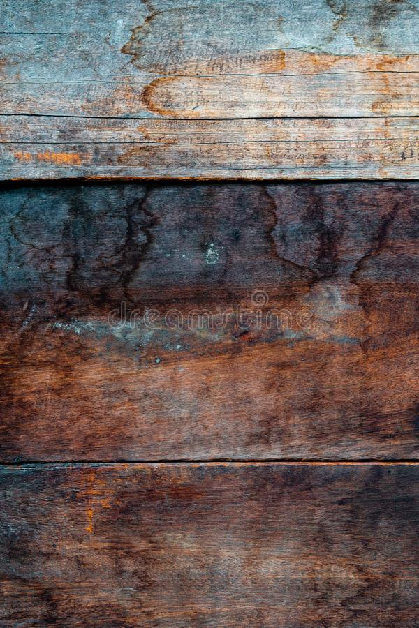 The brown old wood texture with knot stock image