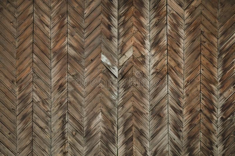 Brown old wood texture. wooden planks background. geometric pattern royalty free stock photo