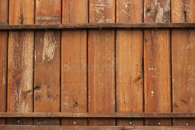 Brown old wood wall, grunge wood panels used as background stock photos