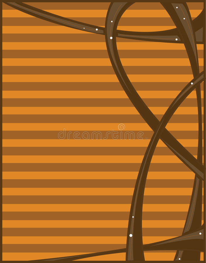 Brown orange abstract background royalty free illustration