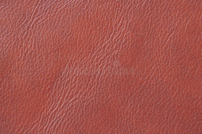 Brown orange leather texture, background, surface. For your backdrop, with copy space stock photo