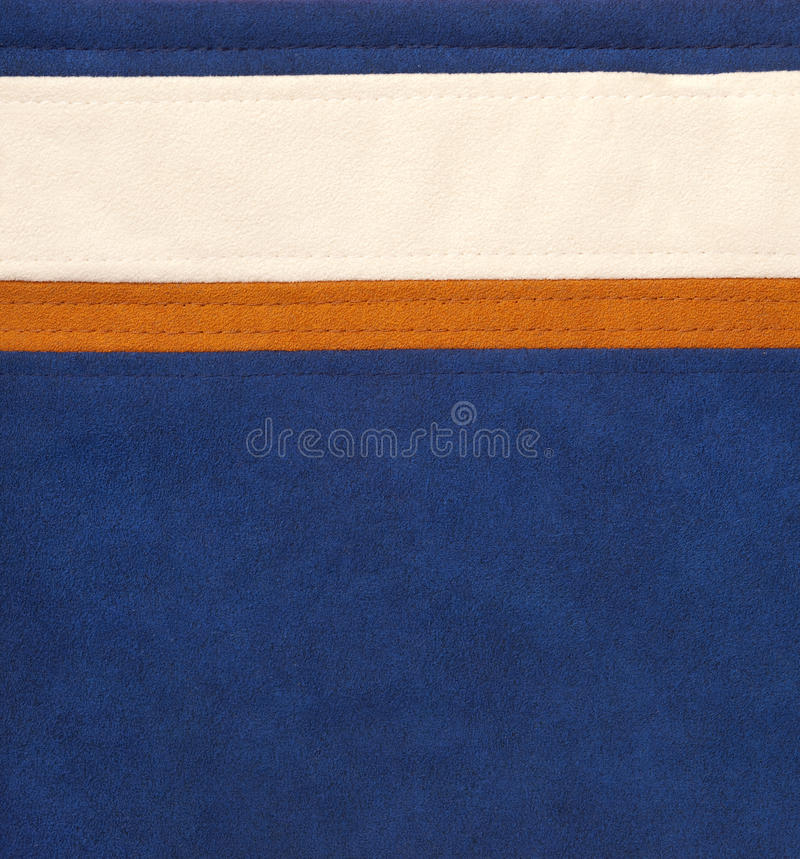 Download Brown/orange, White And Blue Leather Stock Image - Image: 19334873