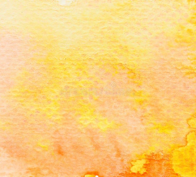 Brown orange yellow watercolor background. Brown orange yellow water color background royalty free illustration